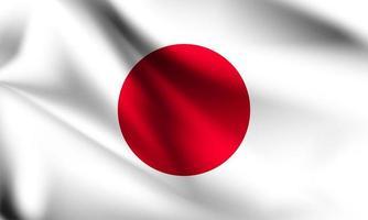 Japan 3d flag  vector