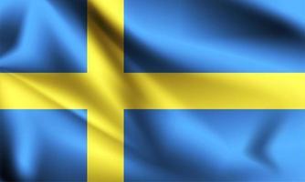 Sweden 3d flag  vector