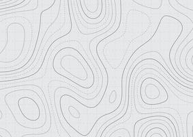 Fondo de mapa abstracto con diseño de topografía