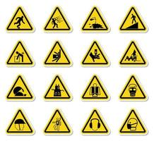Triangle Warning Hazard Symbols  vector