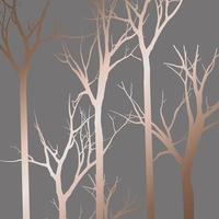 conception de modèle de silhouette d'arbre abstrait