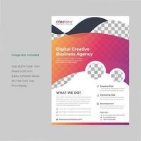 Creative modern orange pink gradient flyer template.