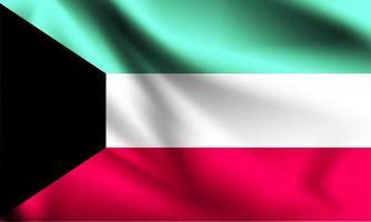 kuwait bandera 3d