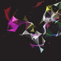 design de plexo baixo poli colorido
