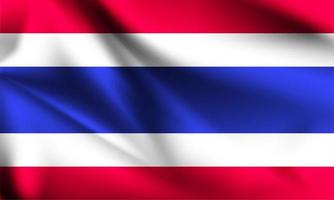 Tailandia 3d bandera ondulada vector