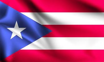 Puerto Rico 3d flag vector