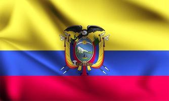 drapeau 3d de l'Équateur