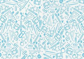 Back to school pattern on notebook