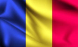 drapeau 3d de la roumanie