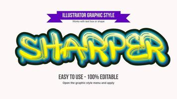 Dripping Graffiti Text Effect vector