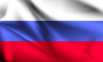 Russia bandiera 3d vettore