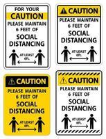 la sicurezza mantiene le distanze sociali vettore