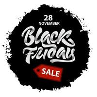 Black Friday sale splash vector
