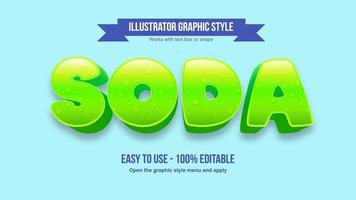 Green Rounded text Effect vector