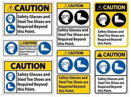 Safety Glasses And Steel Toe Shoes vector