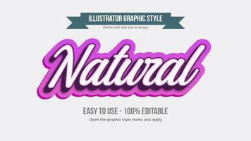 Pink and white italic cursive text effect vector