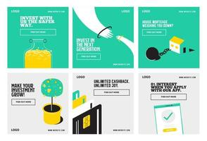 Banking and finance Set vector