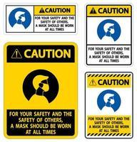precaución por su seguridad vector