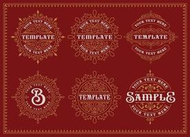 Set of vintage badges and templates vector