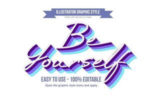 Bold Elegant Purple and Blue Calligraphy