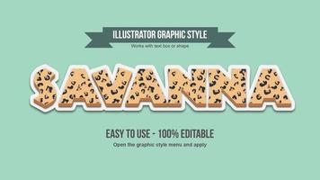 Jaguar Animal Print Elegant Pattern Text Effect vector