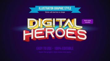 Modern gaming arched yellow and red text styles vector