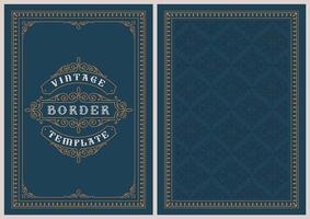 A postcard template in vintage style vector