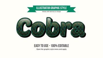 Snake Animal Print Text Style vector