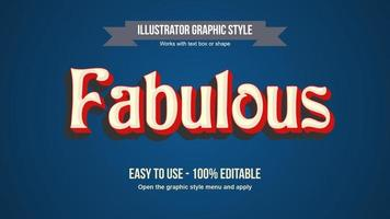 Red vintage rounded text vector