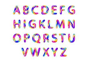 Multi Colors Alphabet letters vector
