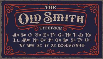 Old Smith Typeface vector