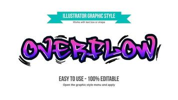 Purple Graffiti tag vector
