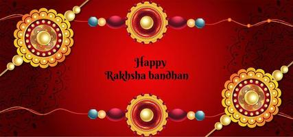 Indian Festival Happy Rakhsha Bandhan Background vector