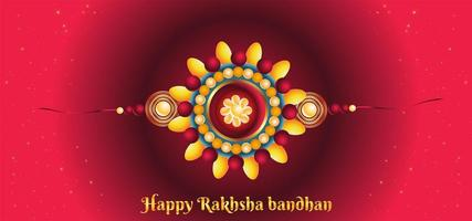 Rakhi Bandhan Colorful Background vector