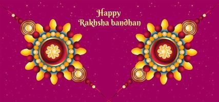 Happy Raksha Bandhan Colorful Background vector
