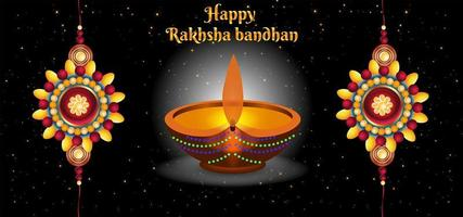 Happy Raksha Bandhan Celebrations Abstract Background vector