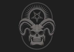 cráneo del diablo satánico vector