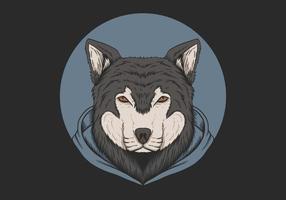 Wolf Hoodie Circle Design vector