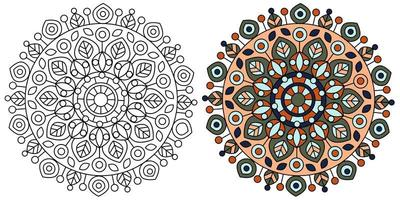 Modern Mandala Design Coloring Page Template