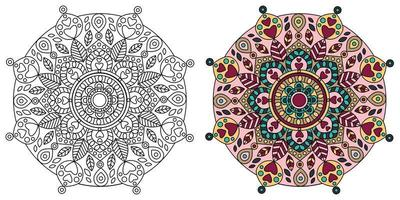 Mandala Ornate Design Coloring Page