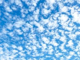 Blue sky with white clouds photo