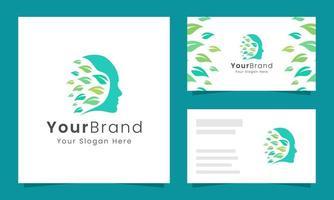 Fresh head and leaf business card set