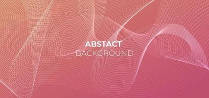 Beautiful pink gradient with abstract lines