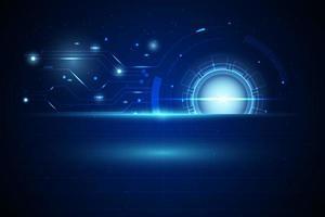 Digital futuristic technology design vector