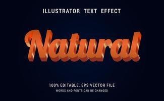 diseño de efecto de texto natural naranja brillante vector