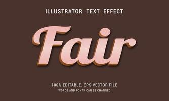efecto de texto justo en negrita brillante vector