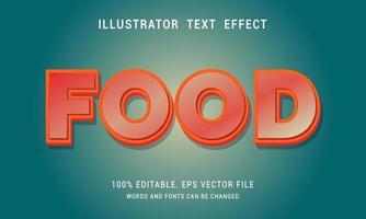 efecto de texto naranja brillante vector