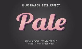 Bold Shiny Pale Pink Text Effect   vector