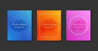 Set of colorful watercolor cards