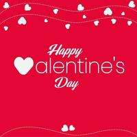 Happy Valentine Day or Heart Background Greeting Card